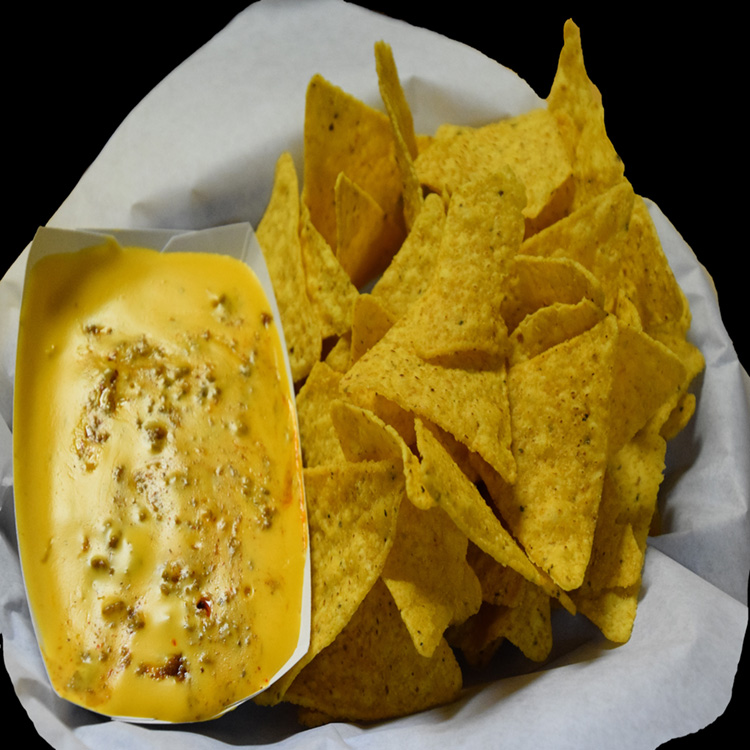 Meat Nacho Chips in Basket