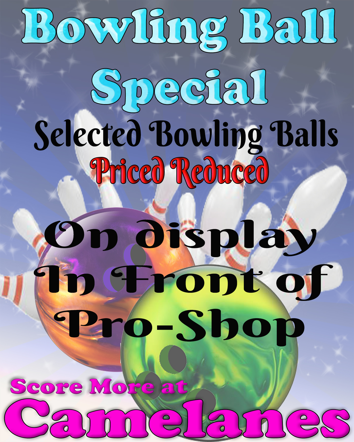 Camelanes Bowling Center Ball Sale